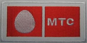 Вышивка логотипа МТС