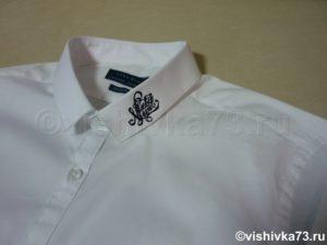 Машинная вышивка на рубашке